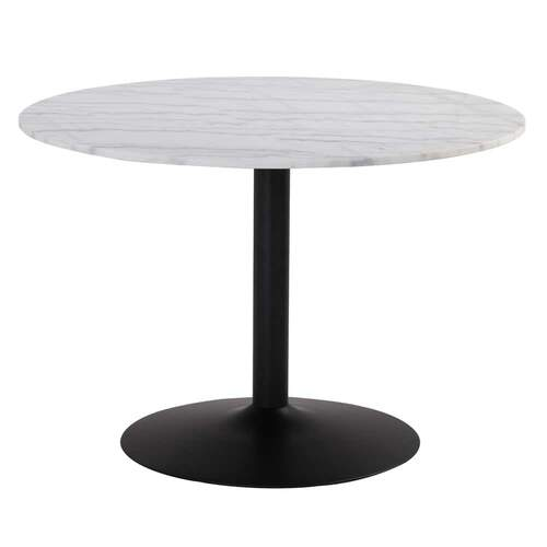 Marcus Round Dining Table - White Marble
