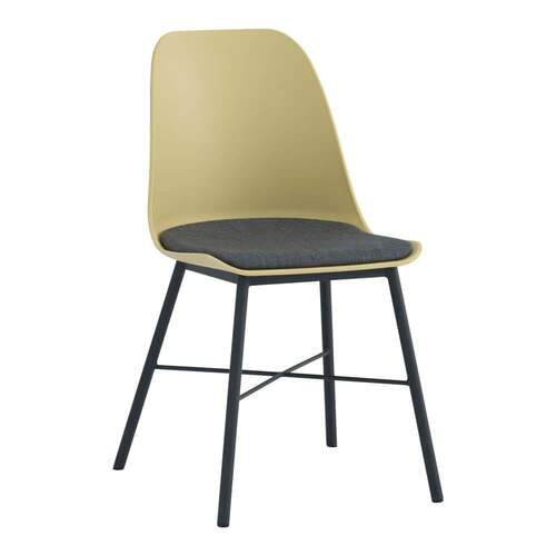 Set of 2 - Rena Dining Chair - Black/Yellow