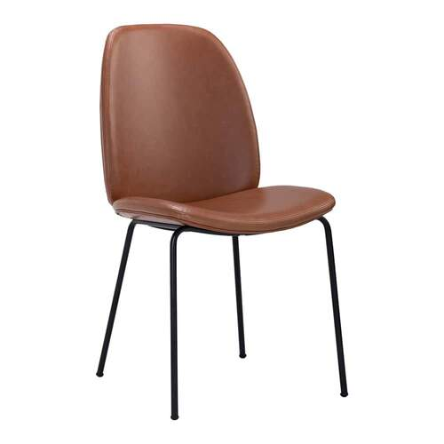 Dell Dining Chair - Brown PU Leather