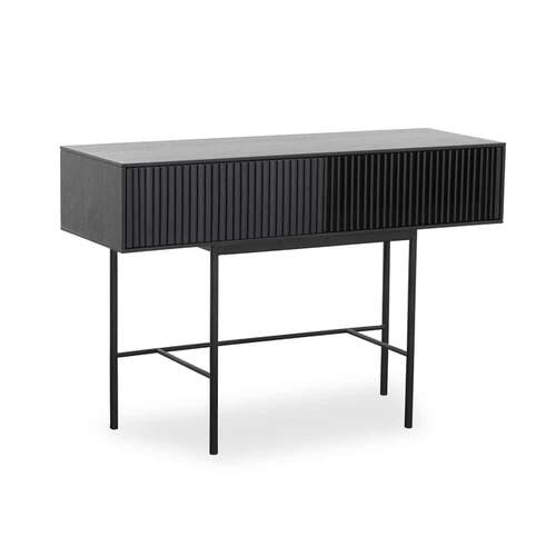 Lizzie Console Table 120cm - Black/Smoke