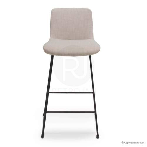 LAST ONE - Beau Upholstered Contemporary Barstool / Mushroom