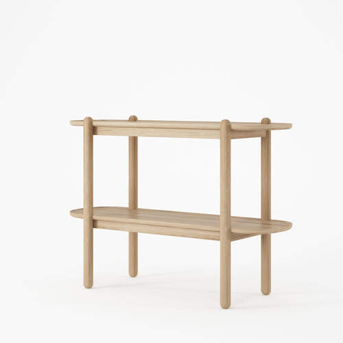 East Console with Shelf - Oak