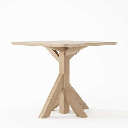 Ki Square Dining Table 80cm Oak