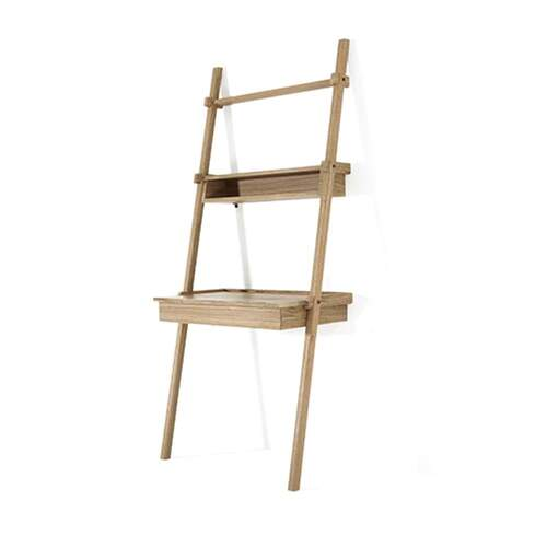 Simply City Ladder Shelves w/Drawer Desk & Niche - Oak