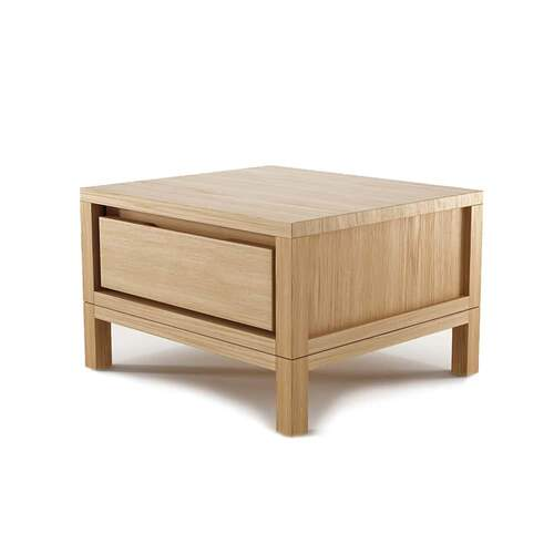 Solid Bedside Table - Oak