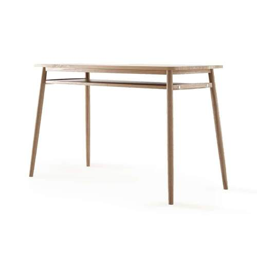 Twist Office Desk 130cm - Teak