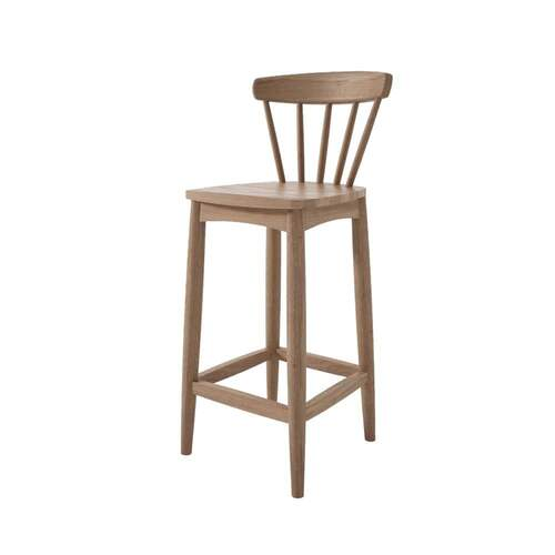 Twist Counter Stool - Teak