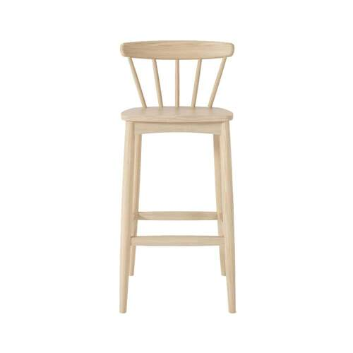 Twist Bar Stool - Oak