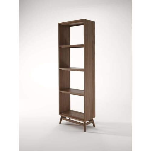 Twist Open Bookcase - Teak