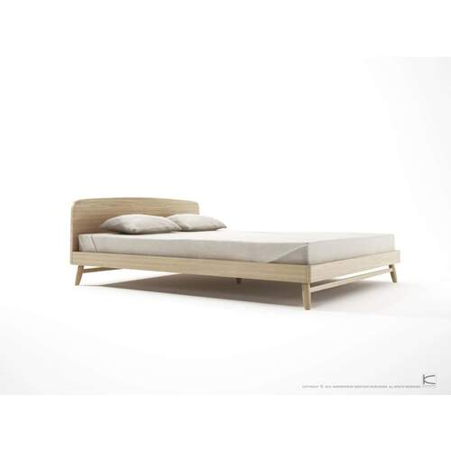 Twist Queen Bed - Oak