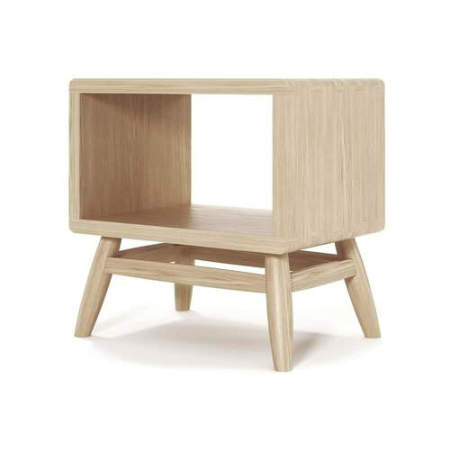 Twist Bedside - Oak