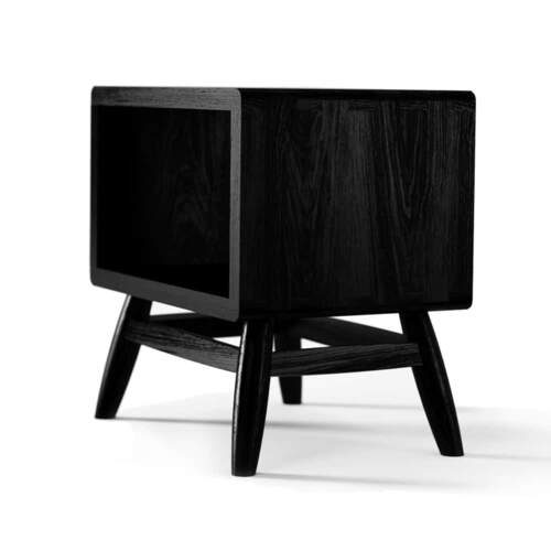 Twist Bedside - Satin Black