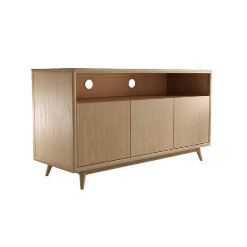 Vintage TV Unit 3 Door - Oak