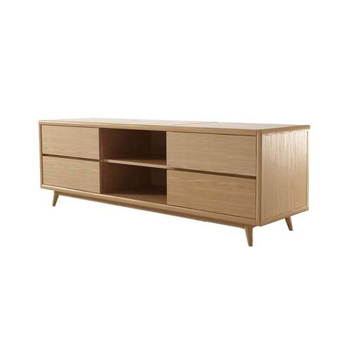 Vintage Low TV Unit - Oak