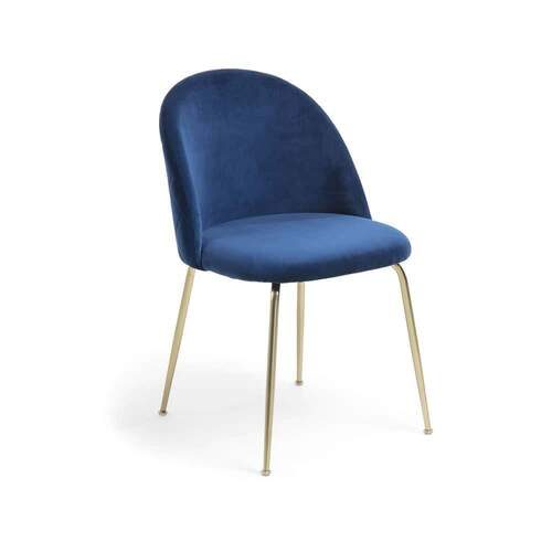Placement Dining Chair - Navy / Gold