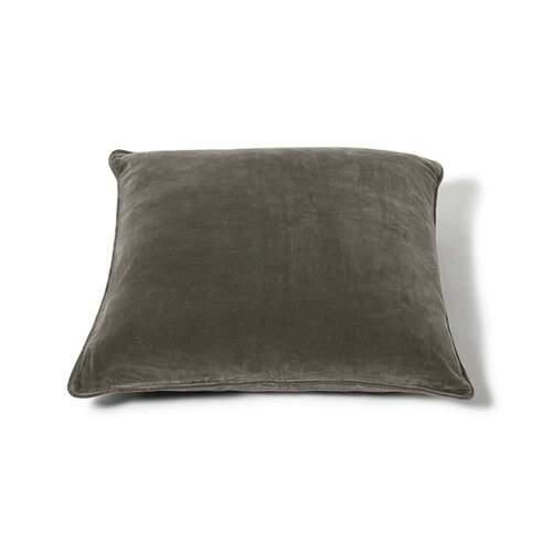 Square Velvet Cushion - Olive