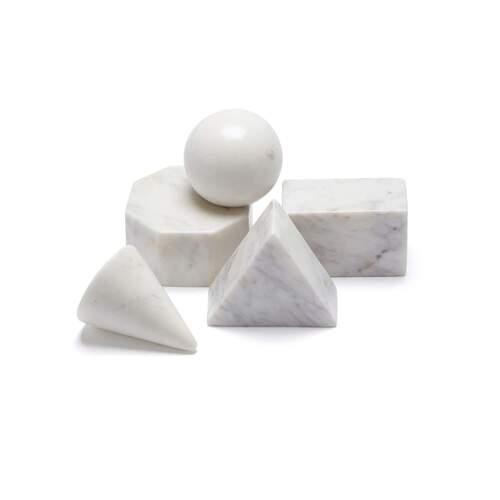 Marble Basics The Quintessential Shape Set (Set of 6)