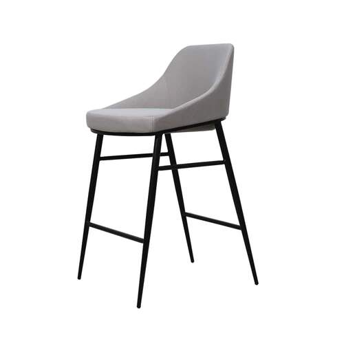 Central Bar Stool - Luxe Velvet Cool Grey 14