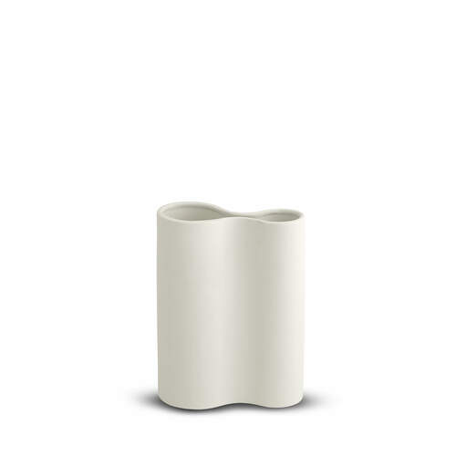Smooth Inifity Vase Small - Snow
