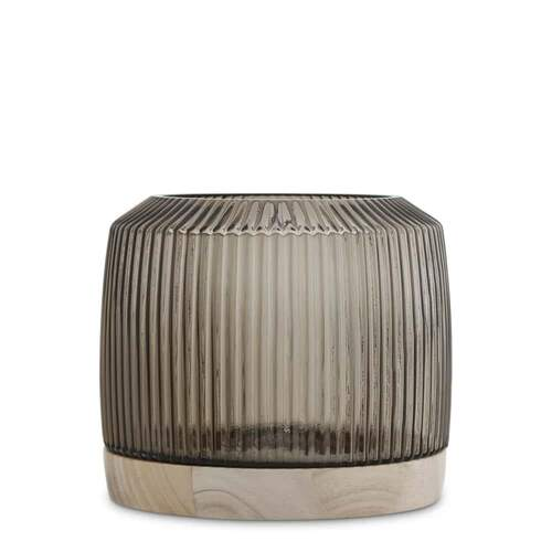 Pleat Vase Smoke - XL