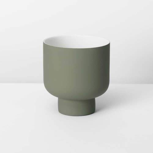 Fergus Small Planter - Olive