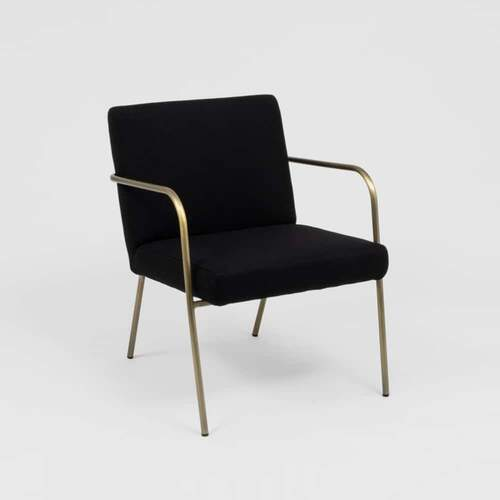 Blake Armchair - Black/Brass