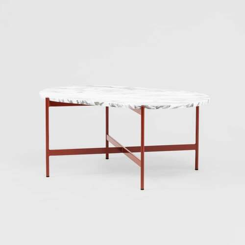 Rhonde Marble Coffee Table - Rust