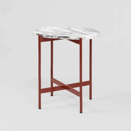 Rhonde Marble Side Table - Rust