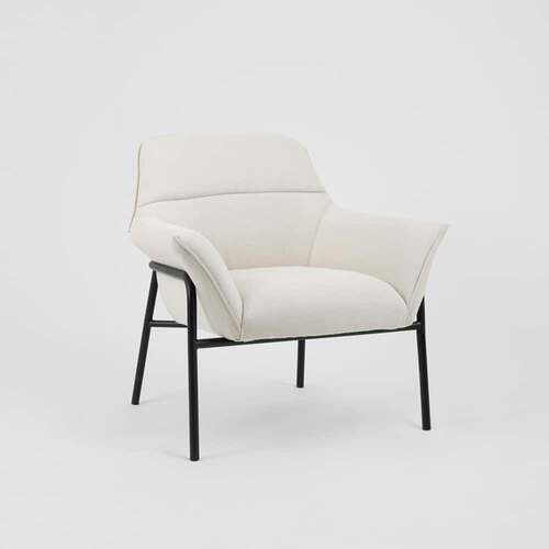 Winston Armchair - Light Beige / Black