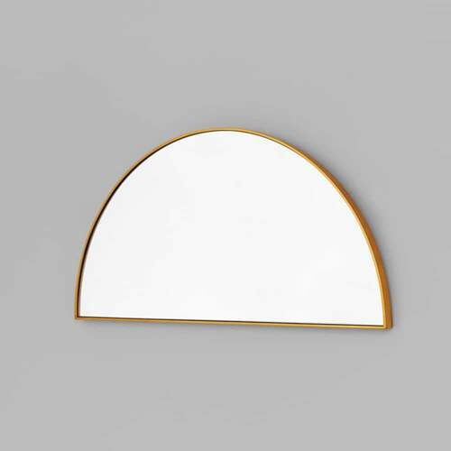 Bjorn Arch Low Mirror - Brass