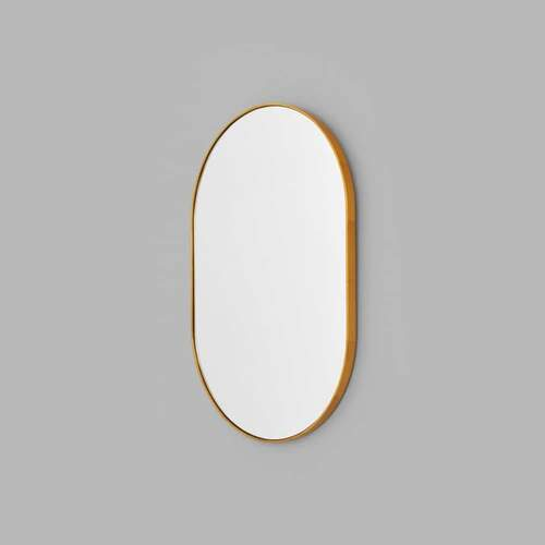 Bjorn Oval Mirror - Brass