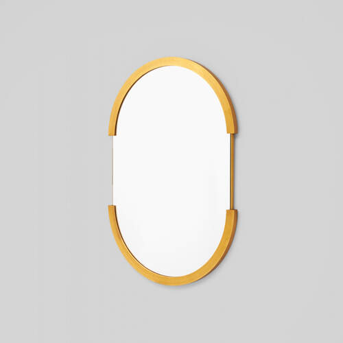 Dawn Oval Mirror - Brass
