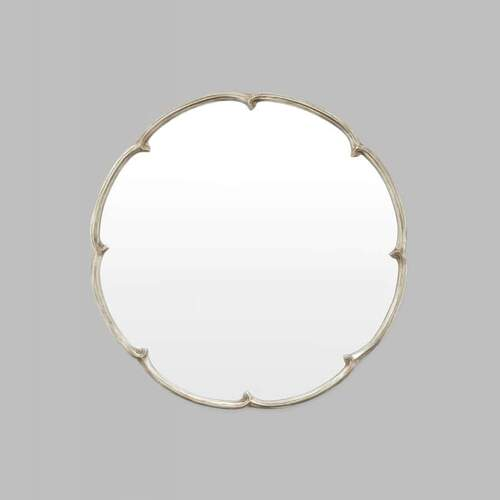French Maid Round Mirror - Silver