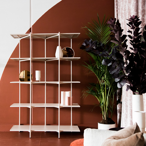 Cross Shelving Unit Tall - Warm Beige