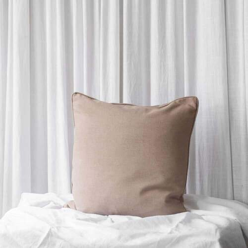 Mia Square Cushion - Linen Sand