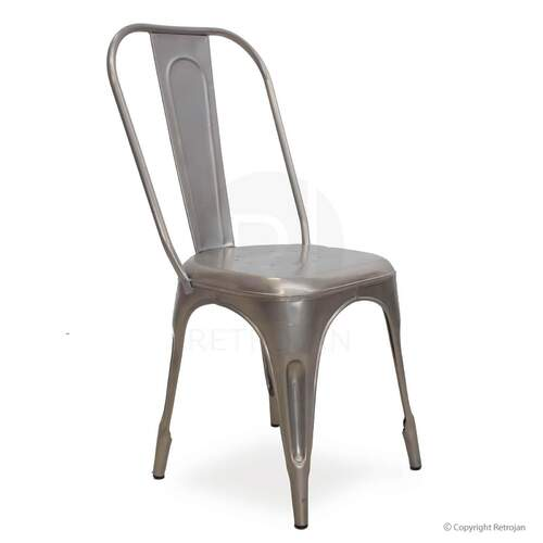 Frankie Cafe Dining Chairs - SILVER