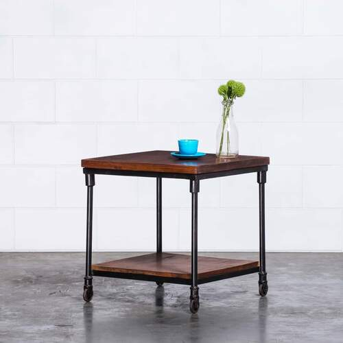 Joni Vintage Bedside Tables/Side Table - BLACK