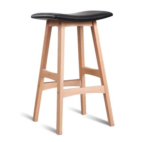 Set of 2 Alex Bar Stools - Black