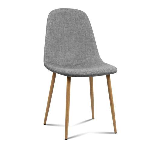 Set of 4 Vera Dining Chair - Light Grey