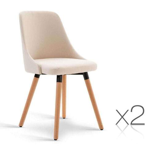 Set of 2 Sierra Dining Chair - Beige
