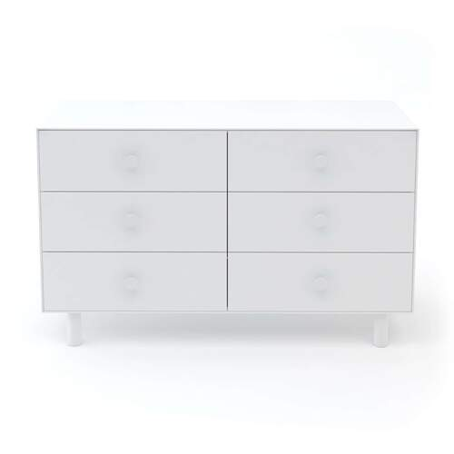 Merlin 6 Drawer Dresser With Classic Base - White
