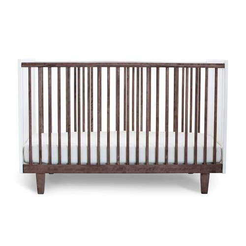 Rhea Cot - Walnut / White