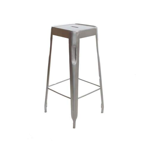 Tall Vintage Dora Bar Stool - Silver