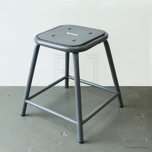 Baez Industrial Stool - GREY/GREY