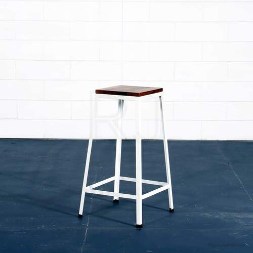 Industrial Sally Stool - White / Medium size
