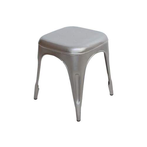 Fitzroy Industrial Stool - Silver (Small)