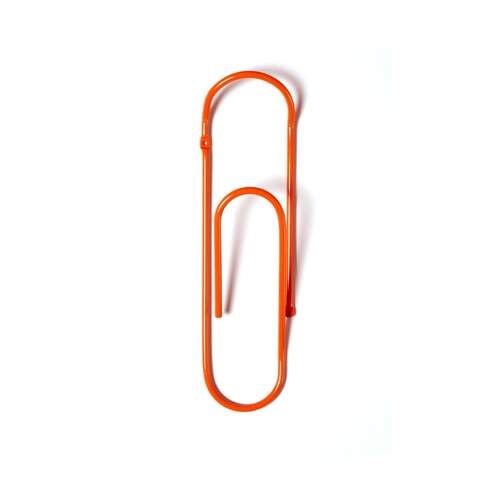Bendo Paper Clip Coat Hook - Orange