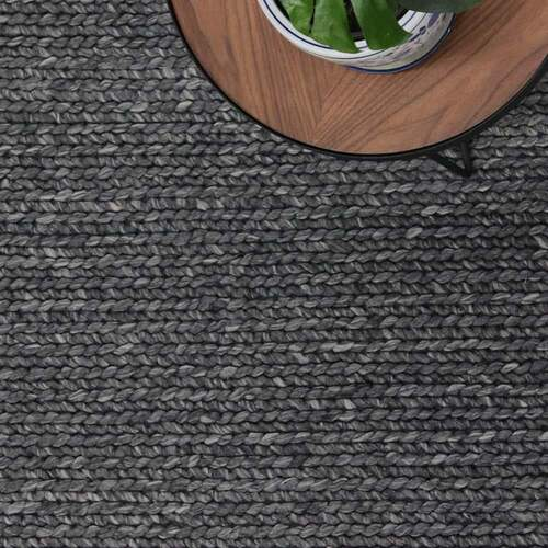 Rope Weave Rug - Charcoal