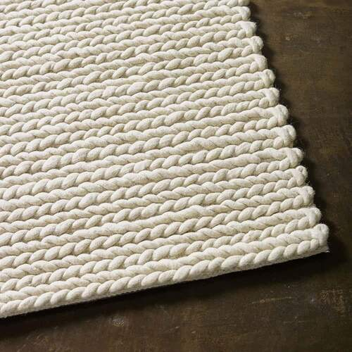 Rope Weave Rug - Ivory [Size: S - 160cmx230cm]