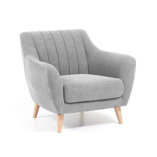 Parker Designer Armchair - Light Grey